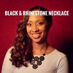 Black & rhinestone necklace from The Limited